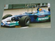 "SAUBER F1 2001 Hiedfeld pit lane Silverstone 6x4"" photo"